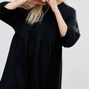 Asos cotton smock dress with cuff detail US10-16